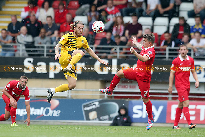 Rove's Stuart Sinclair & DeanCox  during Leyton Orient vs Bristol Rovers, Sky Bet League 2 Football at the Matchroom Stadium, London, England on 29/08/2015