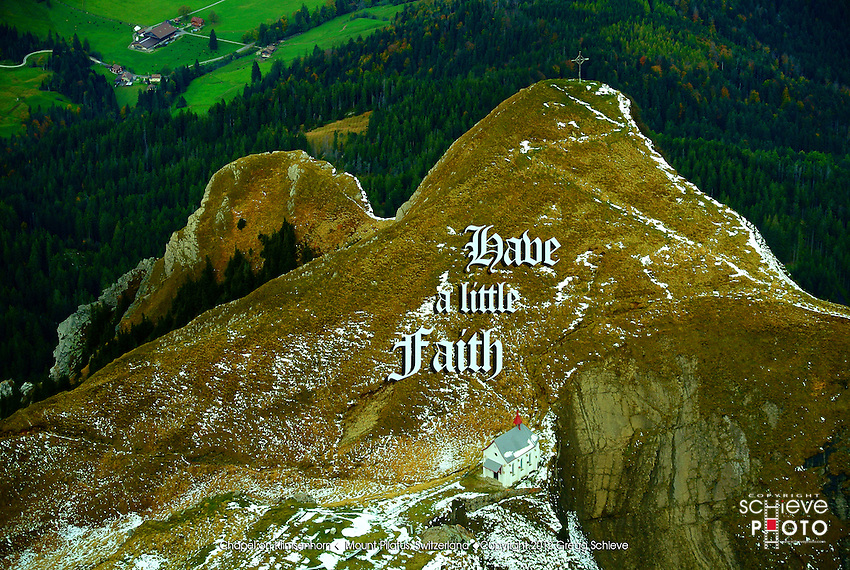 Have a little faith - the Chapel on Klimsenhorn, Mount Pilatus near Lucerne, Switzerland.