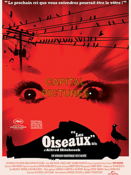The Birds (1963) <br /> POSTER ART<br /> *Filmstill - Editorial Use Only*<br /> CAP/KFS<br /> Image supplied by Capital Pictures