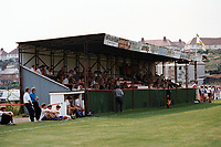 General view of Evesham United FC Football Ground, Common Road, Evesham, Hereford & Worcester, pictured on 20th July 1996