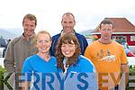 Beginish swimmers front; Majella County, Loreto O'Neill, back l-r; Owen Kiely 1H:31mins, John Casey & Tony McGillicuddy.