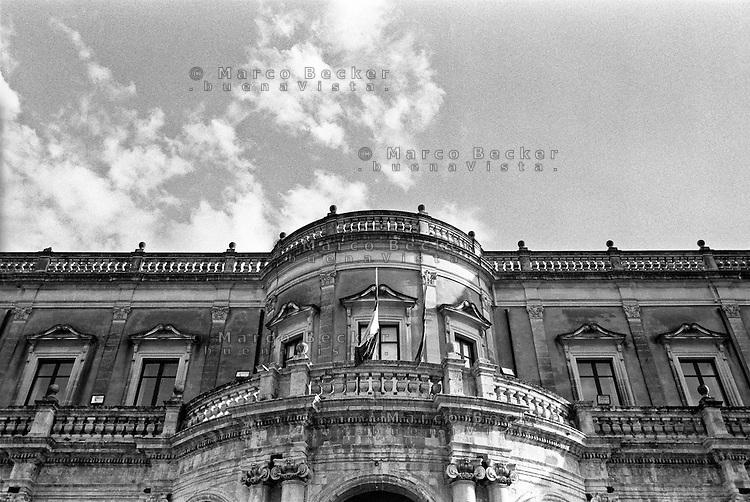 Noto (Siracusa), Palazzo Ducezio, sede del comune --- Noto (Syracuse), Ducezio Palace, headquarter of the municipality