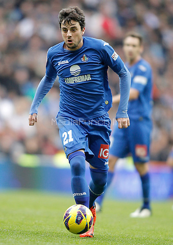 Getafe's Michel Madera during La Liga match. January 27, 2013. (ALTERPHOTOS/Alvaro Hernandez) NortePhoto /MediaPunch Inc. ***FOR USA ONLY***
