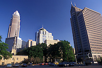 Charlotte, skyline, NC, North Carolina, Skyline of downtown Charlotte.
