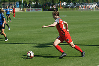 Kansas City, MO - Saturday May 13, 2017:  Meghan Klingenberg during a regular season National Women's Soccer League (NWSL) match between FC Kansas City and the Portland Thorns FC at Children's Mercy Victory Field.