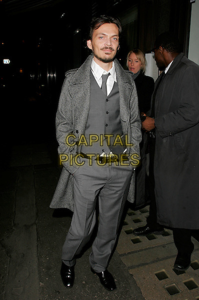 MATTHEW WILLIAMSON.The Vogue Pre BAFTA Party at Cecconis, Mayfair, London, England..February 8th, 2008 .full length grey gray jacket waistcoat beard facial hair trousers hands in pockets .CAP/AH.©Adam Houghton/Capital Pictures