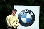 Justin Rose watches a wayward tee shot in the third round of the BMW PGA Championship on the 26th of May 2007 at the Wentworth Golf Club, Surrey, England. (Photo by Manus O'Reilly/NEWSFILE)