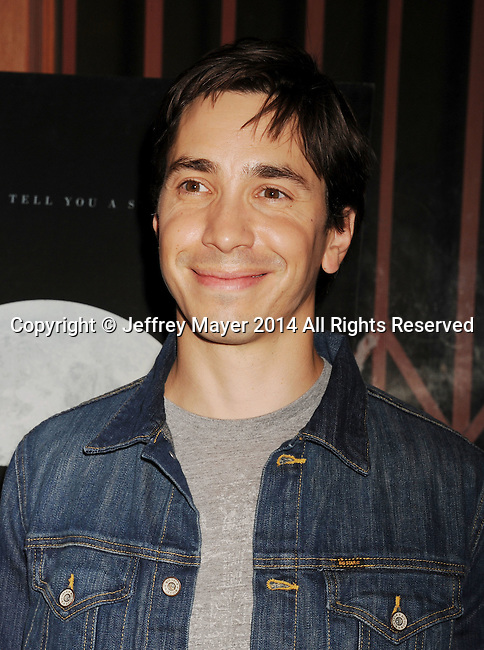 LOS ANGELES, CA- SEPTEMBER 16: Actor Justin Long arrives at the Los Angeles premiere of 'Tusk' at the Vista Theatre on September 16, 2014 in Los Angeles, California.