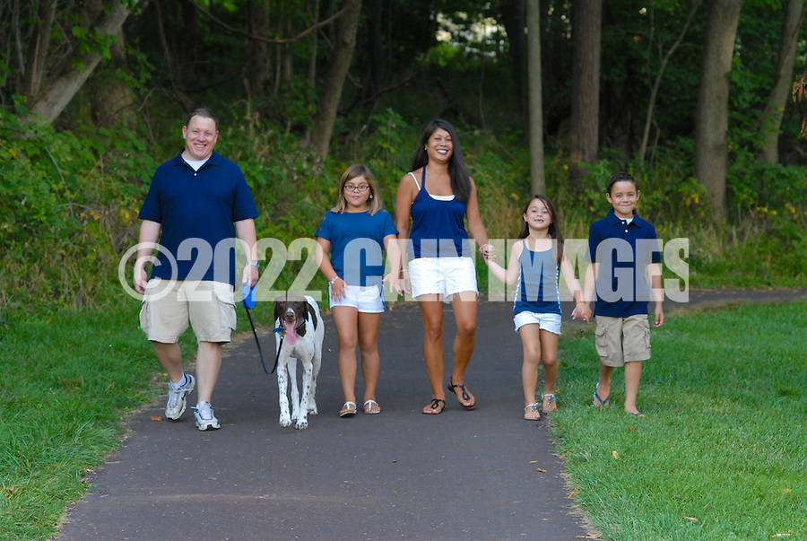8/7/12 5:49:51 PM - Doylestown, PA. -- The Christie family is photographed August 7, 2012 in Doylestown, Pennsylvania. -- (Photo by William Thomas Cain/Cain Images)... -- ...Photo by William Thomas Cain, Freelance.