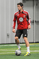 DC United Blake Brettschneider at the first official training session of the 2011 MLS season.  At Greenbelt Sportsplex, Friday January 28, 2011.
