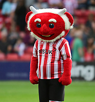 Lincoln City mascot Poacher the Imp<br /> <br /> Photographer Chris Vaughan/CameraSport<br /> <br /> Football Pre-Season Friendly - Lincoln City v Sheffield Wednesday - Friday 13th July 2018 - Sincil Bank - Lincoln<br /> <br /> World Copyright &copy; 2018 CameraSport. All rights reserved. 43 Linden Ave. Countesthorpe. Leicester. England. LE8 5PG - Tel: +44 (0) 116 277 4147 - admin@camerasport.com - www.camerasport.com