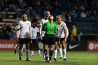Seattle, WA - Saturday April 15, 2017: Christie Pearce, Sarah Killion, Erica Skroski during a regular season National Women's Soccer League (NWSL) match between the Seattle Reign FC and Sky Blue FC at Memorial Stadium.