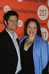 Tom Kitt and his wife at the Off-Broadway Opening night of Second Stage Theatre's production of Wings on October 24, 2010 in New York City, NY with the after party at HB Burger. (Photo by Sue Coflin/Max Photos)