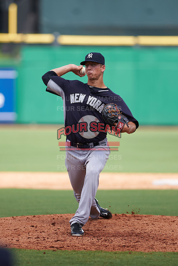 New York Yankees pitcher James Kaprielian (88) during an instructional league game against the Philadelphia Phillies on September 29, 2015 at Brighthouse Field in Clearwater, Florida.  (Mike Janes/Four Seam Images)