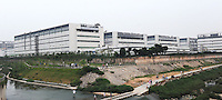 Foxconn's Longhua factory. Foxconn is Apple's major supplier and the Shenzhen plant employs 420,000 workers. There have been a rash of at leat 12 suicides in 2010 believed to be due to harsh management practices..06 Jun 2010