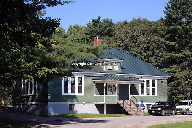 Town Office building, Burham, Maine, USA