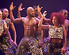 Boy Blue Entertainment <br /> Blak Whyte Gray <br /> at The Barbican Theatre, London, Great Britain <br /> press photocall / rehearsal <br /> 11th January 2016 <br /> <br /> Blak <br /> Theo Godson Oloyade <br /> Natasha Gooden <br /> Dan-I Harris-Walters <br /> Nicole McDowall <br /> Idney De' Almeida <br /> Ricardo Da Silva <br /> Gemma Kay Hoddy <br /> Dickson Mbi <br /> <br /> <br /> <br /> Photograph by Elliott Franks <br /> Image licensed to Elliott Franks Photography Services