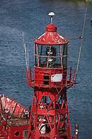 Europe/France/Bretagne/29/Finistère/Douarnenez: les bateaux  du Port-Musée de Port-Rhu avec en premier plan le bateau-phare: Le Scarweather,