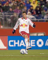 New York Red Bulls defender (3) Hunter Freeman. The New England Revolution defeated the New York Red Bulls 1-0 (1-0 aggregate score) in the second game of the MLS Eastern Conference Semifinal Series at Gillette Stadium in Foxborough, MA on November 3, 2007.