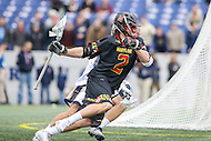 Annapolis, MD - February 11, 2017: Maryland Terrapins Colin Heacock (2) in action during game between Maryland vs Navy at  Navy-Marine Corps Memorial Stadium in Annapolis, MD.   (Photo by Elliott Brown/Media Images International)