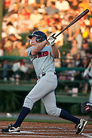 April 9th 2010:  Brock Kjeldgaard of the Brevard County Manatees hits in the game against the Daytona Cubs at Jackie Robinson Ballpark in Daytona Beach, FL (Photo By Scott Jontes/Four Seam Images)