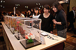 "March 9, 2013, Tokyo, Japan - Audience vote for the best sweet at Tokyo Sweets Collection 2013. Japan's top Patisseries demonstrate the new trend and hight technique and sophisticated sensibility to the audience at ""Tokyo Sweets Collection 2013"" at Prince Hotel in Shinagawa. It is the fist time that organizers announce the trend of the sweets in 2013 during the event. The event presents a catwalk which audience can enjoy the collaboration of sweets and fashion show. (Photo by Rodrigo Reyes Marin/AFLO)"