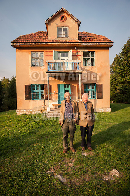 Brothers Vaso and Dr. Andrija Djricic at there home in Tara National Park, Kremna, Serbia