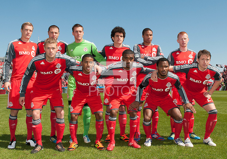 31 March 2011: The Toronto FC staring eleven during a game between the Columbus Crew and the Toronto FC at BMO Field in Toronto, Ontario Canada..The Columbus Crew won 1-0.