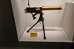 Vickers-Maxim 1901 .303 machine gun, armoury display of weapons in REME museum, MOD Lyneham, Wiltshire, England, UK