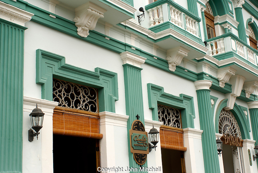 Restored iSpanish colonial building housing the hotel Dario in the city of Granada, Nicaragua