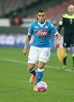 Faouzi Ghoulam  during the  italian serie a soccer match,between SSC Napoli and Chievo Verona      at  the San  Paolo   stadium in Naples  Italy , March 05, 2016<br /> Napoli won  3 - 1