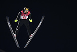 Robert Johansson (NOR). Mens normal hill individual. Qualification. Ski jumping. Alpensia ski jump centre. Pyeongchang2018 winter Olympics. Alpensia. Pyeongchang. Republic of Korea. 08/02/2018. ~ MANDATORY CREDIT Garry Bowden/SIPPA - NO UNAUTHORISED USE - +44 7837 394578