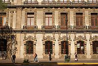Building facade in Mexico City's Cento Historico or Historical Center