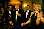 Gambling Uk 1990s. Having fun playing blackjack at black tie event private party Hunt Ball Sandhurst Berkshire  England