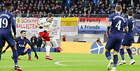 10th March 2020, Red Bull Arena, Leipzig, Germany; EUFA Champions League, RB Leipzig v Tottenham Hotspur;  Marcel Sabitzer of RB Leipzig shoots and scores his goal for 1:0