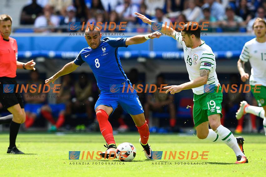 Dimitri Payet (FRA) / Robbie Brady (IRL)  <br /> Lyon 26-06-2016 Stade de Lyon Football Euro2016 France - Ireland / Francia - Irlanda Round of 16. Foto Alain Grosclaude/freshfocus / Insidefoto