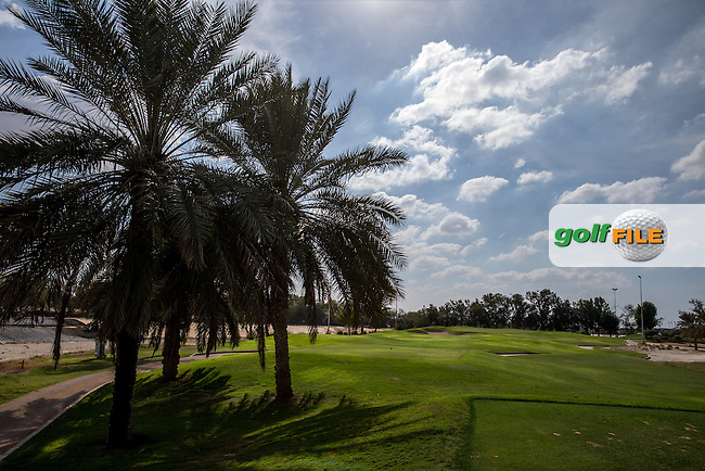 2nd tee, The Track at The Meydan Golf Club, Dubai, United Arab Emirates.  31/01/2016. Picture: Golffile | David Lloyd<br /> <br /> All photos usage must carry mandatory copyright credit (&copy; Golffile | David Lloyd)