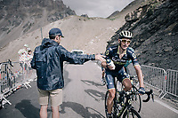 Roman Kreuziger (CZE/ORICA-Scott) catching a last bottle up the highest point in the 2017 TdF: The Galibier (HC/2642m/17.7km/6.9%), before the drop down to the finish<br /> <br /> 104th Tour de France 2017<br /> Stage 17 - La Mure › Serre-Chevalier (183km)