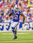 21 September 2014: Buffalo Bills running back Fred Jackson runs for yardage against the San Diego Chargers at Ralph Wilson Stadium in Orchard Park, NY. The Chargers defeated the Bills 22-10 in AFC play. Mandatory Credit: Ed Wolfstein Photo *** RAW (NEF) Image File Available ***