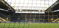 16th May 2020, Signal Iduna Park, Dortmund, Germany; Bundesliga football, Borussia Dortmund versus FC Schalke; Borussia Dortmund players celebrate at the main fan stand after the game