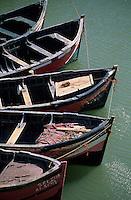 Afrique/Maghreb/Maroc/El-Jadida : Le port de pêche, barques de pêcheurs depuis le CItadelle Portugaise