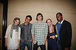 Guiding Light's Bonnie Dennison, Zack Conroy, Caitlin Van Zandt & Lawrence Saint-Victor congratulate EJ Bonilla (C) (Younger Actor Emmy Nominee) at the 36h Annual Daytime Entertainment Emmy® Awards Nomination Party - Sponsored By: Good Housekeeping and The National Academy of Television Arts & Sciences (NATAS) on Thursday, May 14, 2009 at Hearst Tower, New York City, New York (Photo by Sue Coflin/Max Photos)..