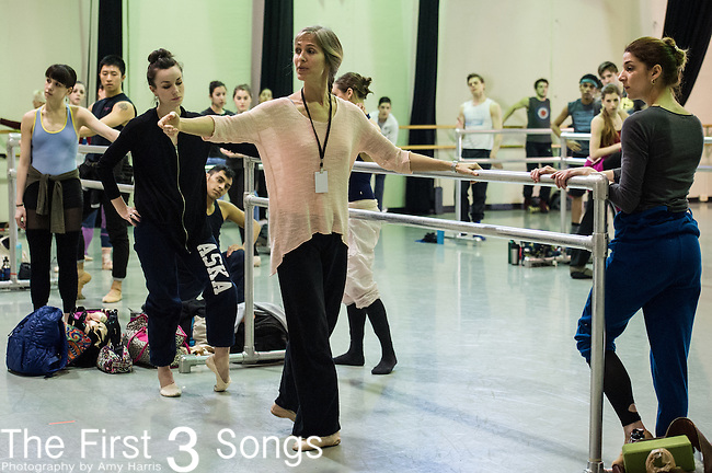 Cincinnati Ballet dancers rehearse for Bolero. The 2013-2014 marks the company's 50th Season in Cincinnati, Ohio.