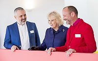06/02/2020 - Architect Ernesto Bartolini, Camilla Duchess of Cornwall and Architect Ab Rogers during a visit to Maggies at The Royal Marsden in Sutton, Greater London. Photo Credit: ALPR/AdMedia