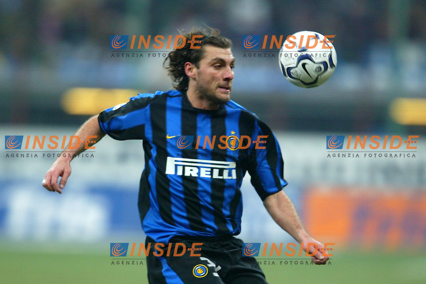 Milano 12/2/2004 Coppa Italia - Italy Cup - Semifinale <br /> Inter - Juventus 2-2 (6-7 after penalties) <br /> Christian Vieri (Inter)<br /> Photo Andrea Staccioli Insidefoto