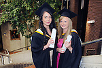 With Compliments,  25/8/2015  Attending the University of Limerick Conferrings were Clara Mullane, Abbeyfeale, who was conferred with a BA in Psychology and Sociology and Laura Collins, Templeglantine, who was conferred with a LLB in Law and Psychology.<br /> Pic: Gareth Williams / Press 22