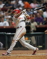 Phillies 3B Pedro Feliz on Thursday May 22nd at Minute Maid Park in Houston, Texas. Photo by Andrew Woolley / Four Seam Images.