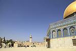 Israel, Jerusalem, the Dome of the Rock at Haram esh Sharif