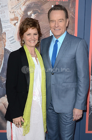 HOLLYWOOD, CA - MAY 10: Melissa Leo and Bryan Cranston at the 'All The Way' Los Angeles Premiere at Paramount Studios on May 10, 2016 in Hollywood, California. Credit David Edwards/MediaPunch