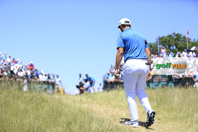 Jon Rahm (ESP) walks to the 1st tee to start his match during Friday's Round 2 of the 117th U.S. Open Championship 2017 held at Erin Hills, Erin, Wisconsin, USA. 16th June 2017.<br /> Picture: Eoin Clarke | Golffile<br /> <br /> <br /> All photos usage must carry mandatory copyright credit (&copy; Golffile | Eoin Clarke)